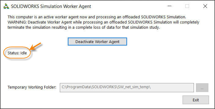 Simulation Worker Agent - Idle