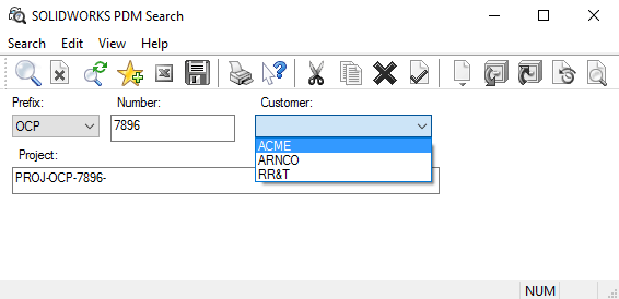 PDM Search Tool
