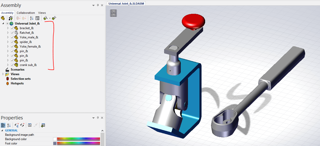 Solidworks Composer File Open Options For Importing Files