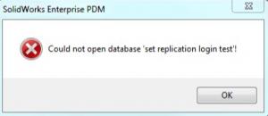 PDM Error Message