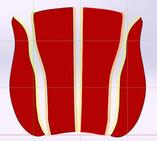 Seat Flat Pattern