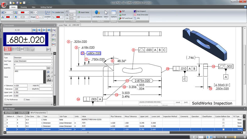 reset SOLIDWORKS Inspection User Interface