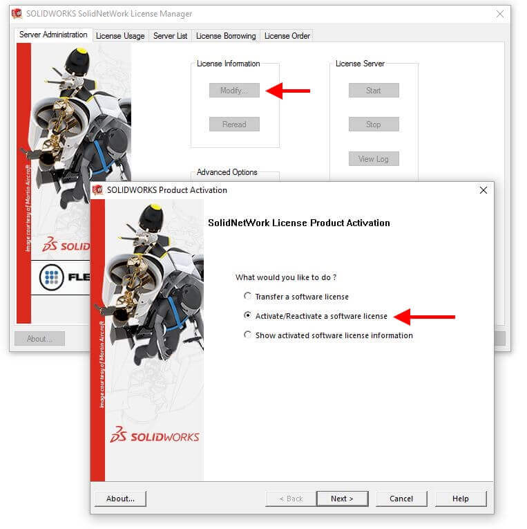 Activate SOLIDWORKS Network License