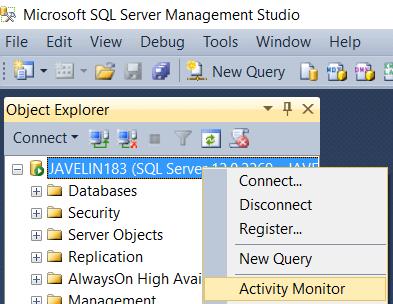 SQL Activity Monitor