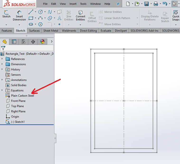 SOLIDWORKS Weldment Profile Material Properties