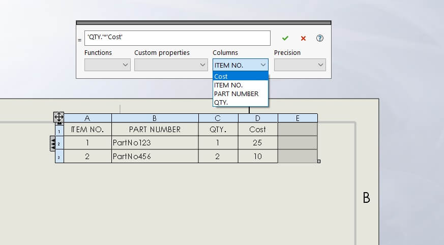 The Syntax of a SOLIDWORKS IF Statement in an Equation