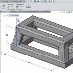 Using a solid model as reference geometry for creating a SOLIDWORKS Weldment Sketch