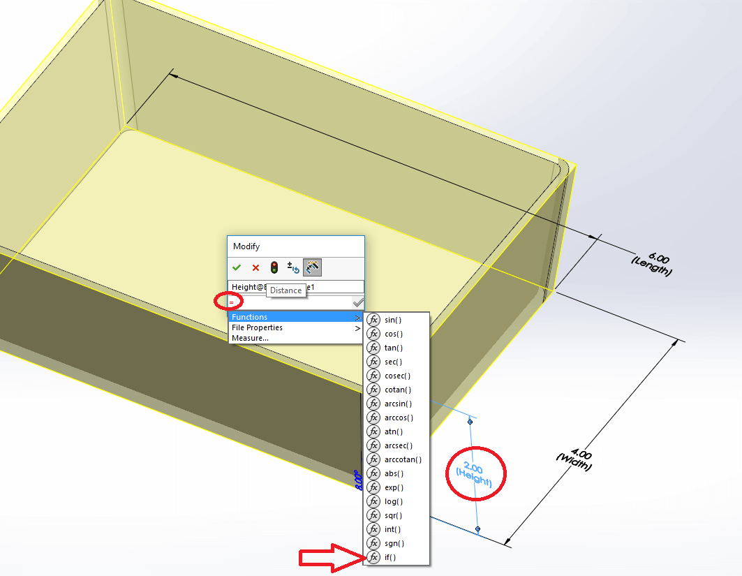 SOLIDWORKS IF Function