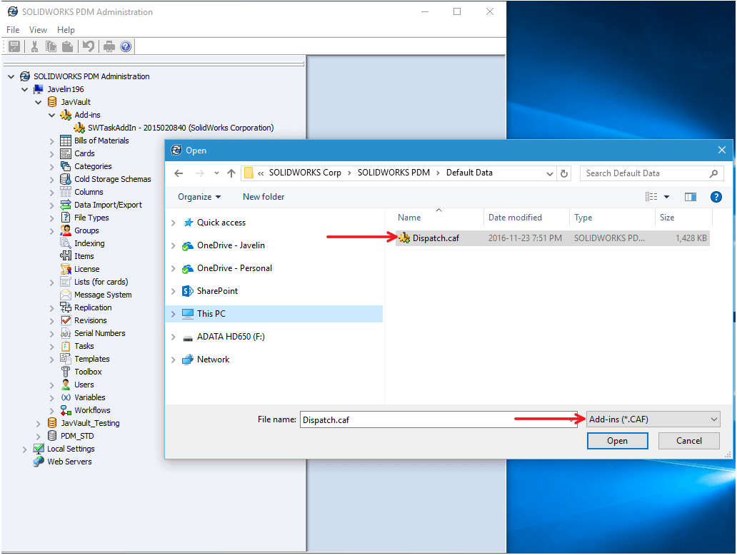 Open Dispatch File