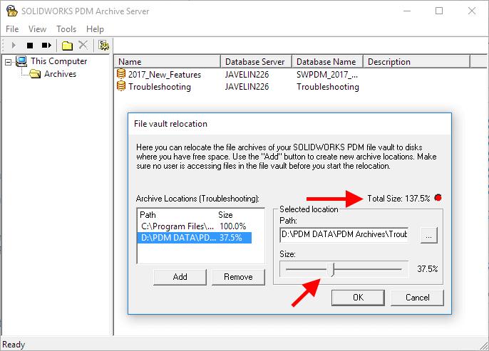 Adjust Archive Size