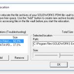 Relocating SOLIDWORKS PDM Archive Folders