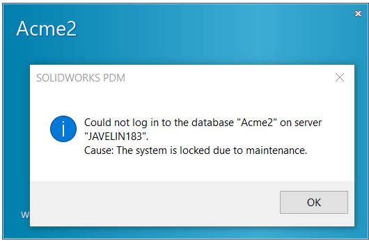 System Maintenance Message