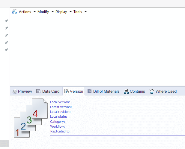 Blank PDM View