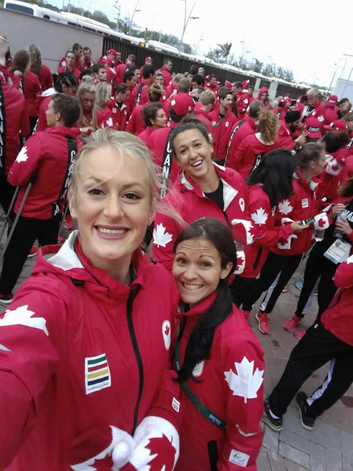 Liz Gleadle Rio 2016 Closing ceremonies practise