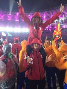 Liz Gleadle Rio 2016 closing ceremony