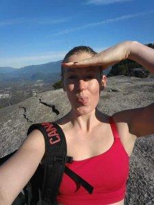 Off season FUN training climbing the Chief to the peak!