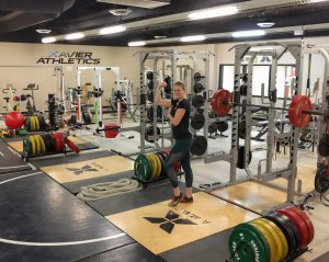 Xavier College Prep in Palm Desert – best equipped high school gym I've ever seen