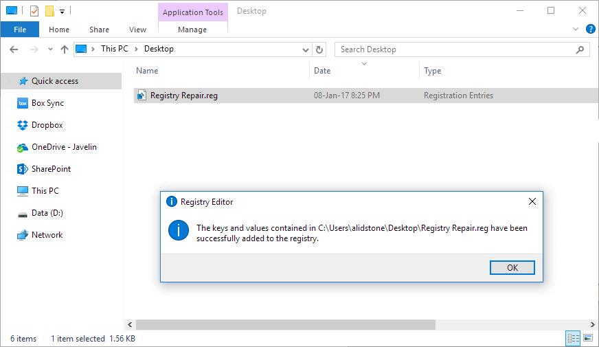 Key successfully added