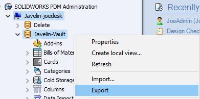 Export Vault