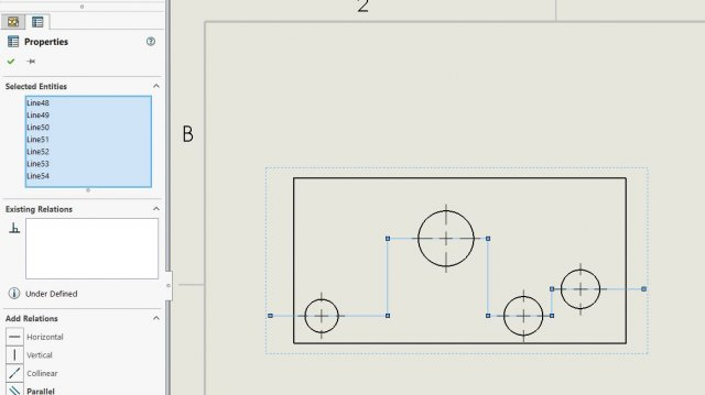 Manually drawn Section Line