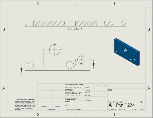 Solidworks Section Jog Line Options For Drawing Views