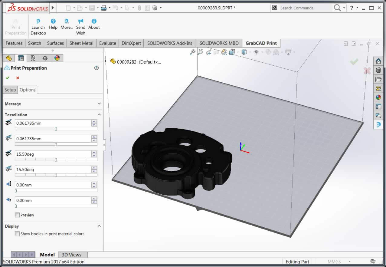 GrabCAD Print Tessellation Options