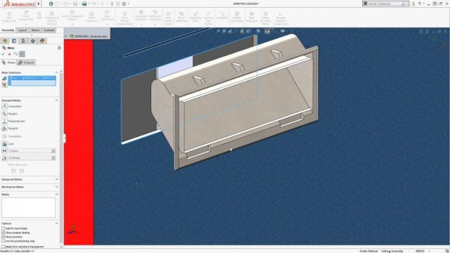 SOLIDWORKS 2018 Hide Surface when Mating