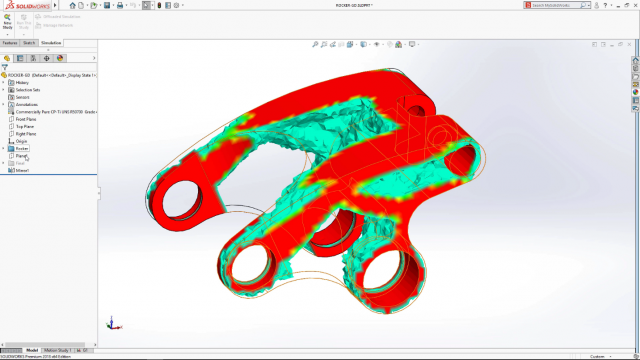 Complete SOLIDWORKS Integration with SIMULATION View
