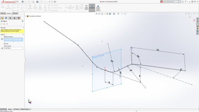 SOLIDWORKS 2018 Sketch Planes as Symmetry Reference