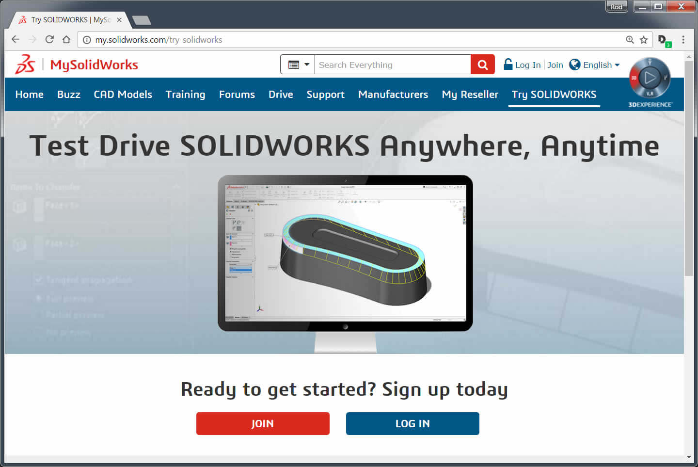 SOLIDWORKS Free Trial Access