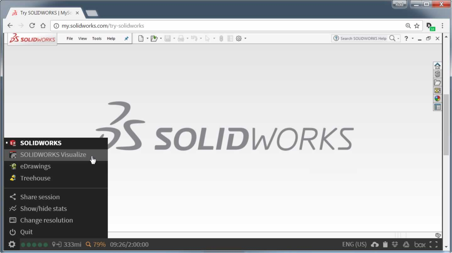 SOLIDWORKS Free Trial Apps