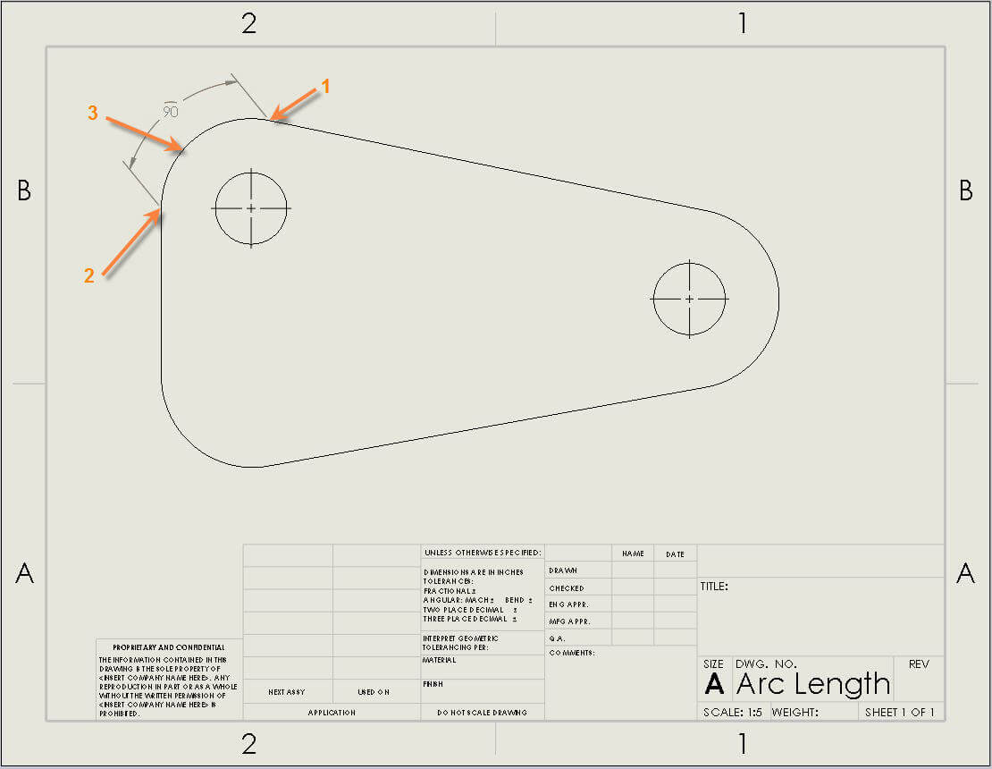 How To Add A Solidworks Arc Dimension In Sketches And Drawings