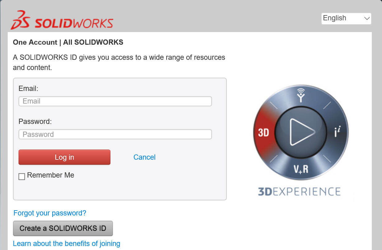 SOLIDWORKS Login