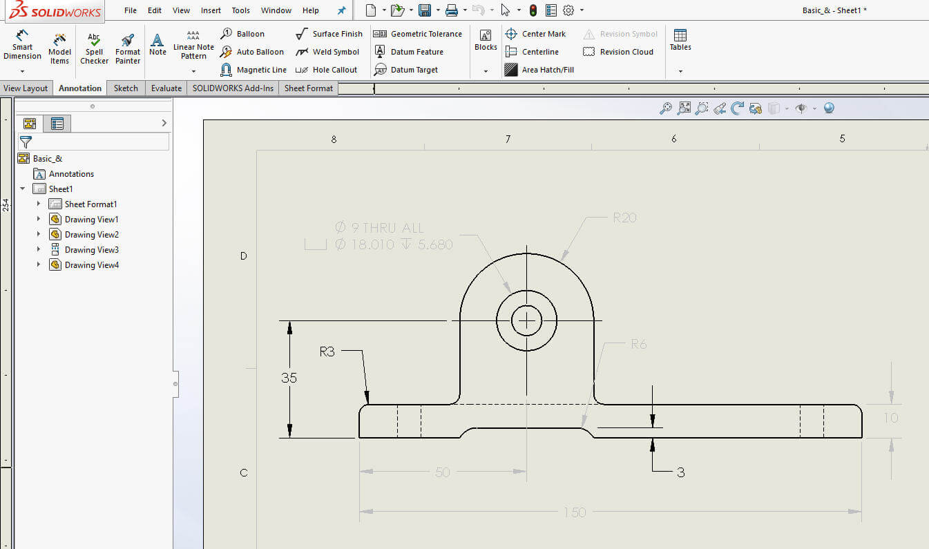 how to make dimensions horizontal solidworks