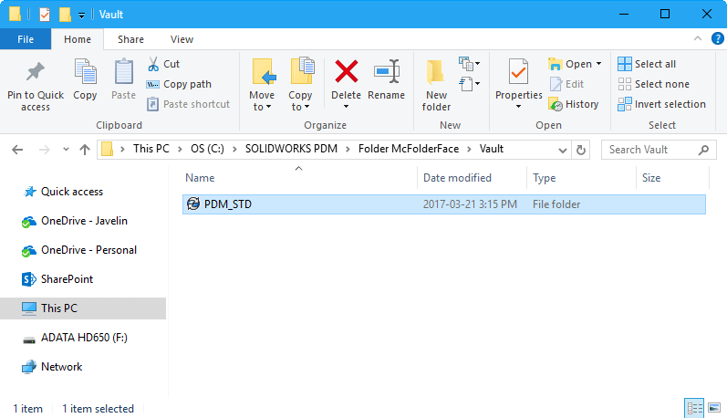 SOLIDWORKS PDM local view
