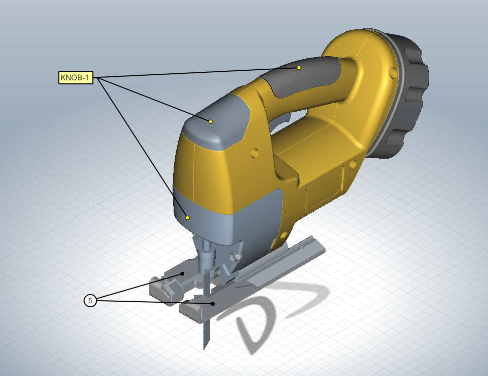 SOLIDWORKS Composer Multi-line Leader