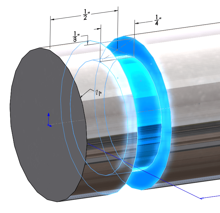 SOLIDWORKS Sketch for a Groove Cut