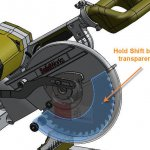 SOLIDWORKS Selecting Transparent Components with the Shift key