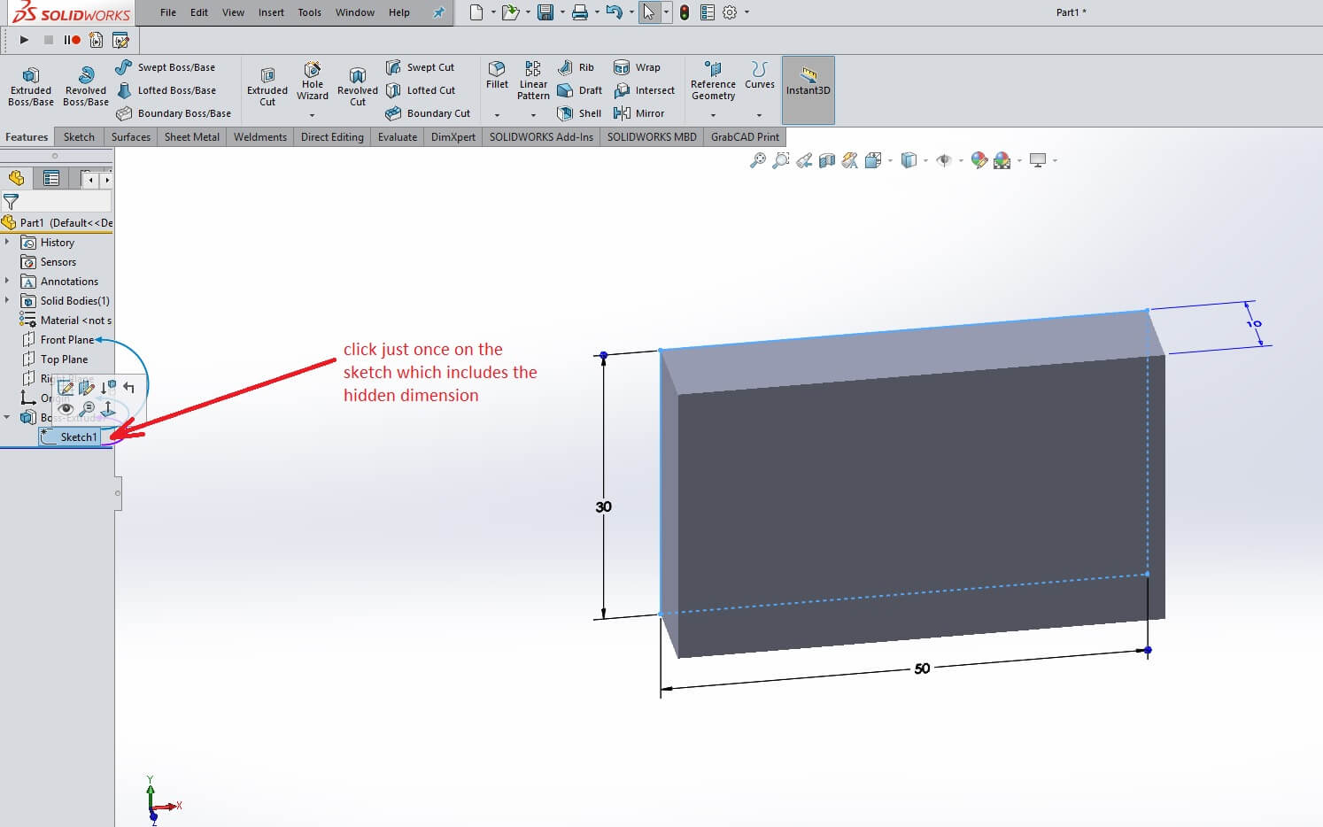 Solidworks drawing dimensions not updating