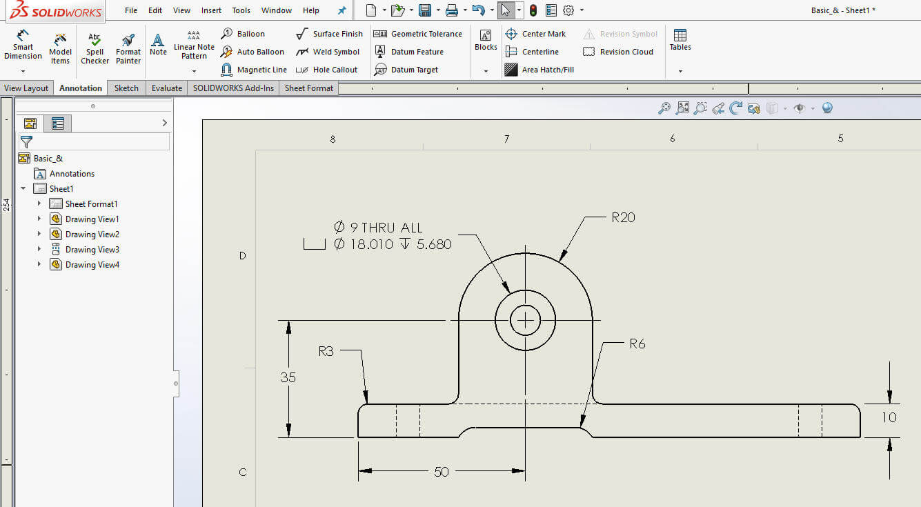 How To Hideshow Dimensions In A Solidworks Drawing