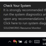 How to disable SOLIDWORKS Resource Monitor Notifications