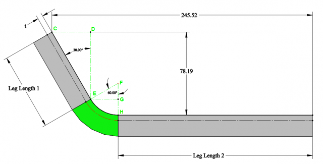 Calculating Bend Allowance Bend Deduction And K Factor