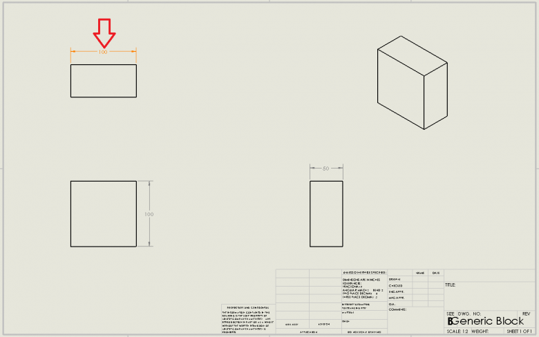 Revised SOLIDWORKS Dimensions shaded a different colour