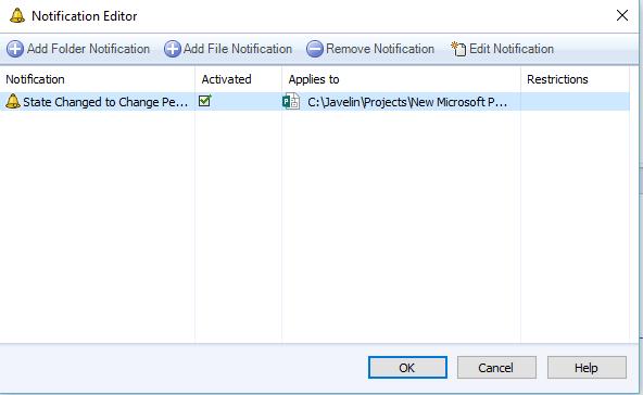 Notification Editor