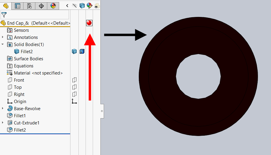 SOLIDWORKS Model Appear Black