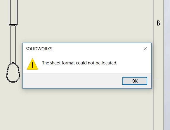 Sheet Format Could Not Be Located