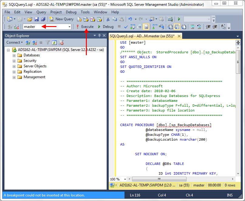 SOLIDWORKS PDM Standard Database Backups