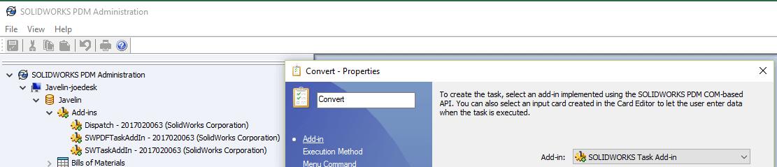 Custom Add-in for Tasks