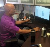 David using SOLIDWORKS