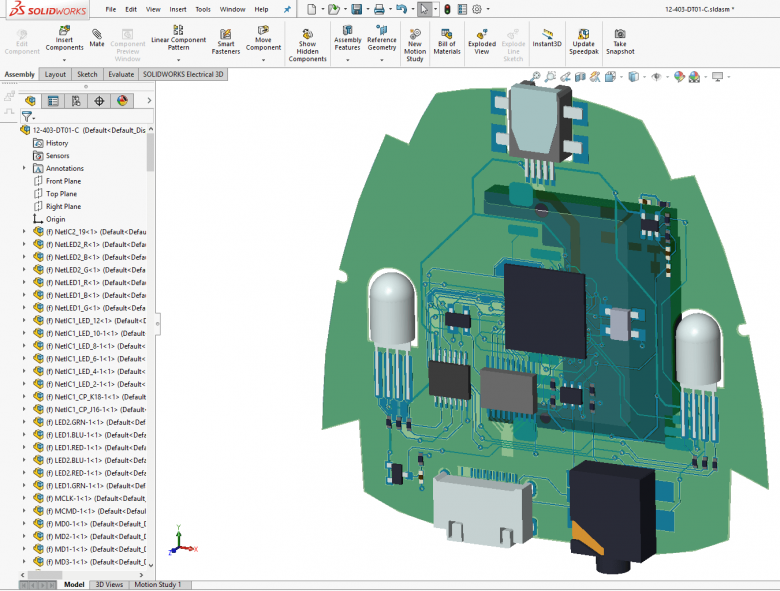 SOLIDWORKS Assembly with Copper